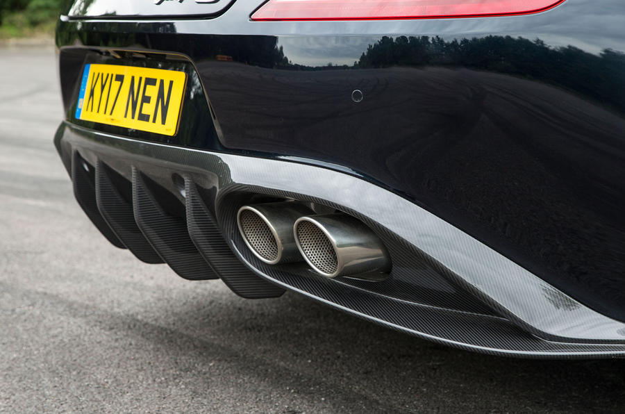 Aston Martin Vanquish S Volante rear diffuser
