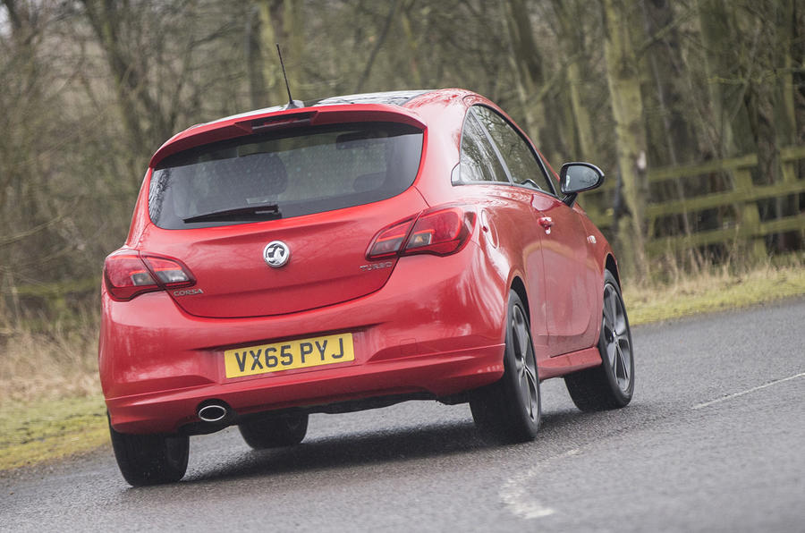 Vauxhall Corsa 1.4T rear cornering