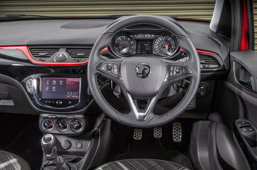Vauxhall Corsa Red Edition dashboard