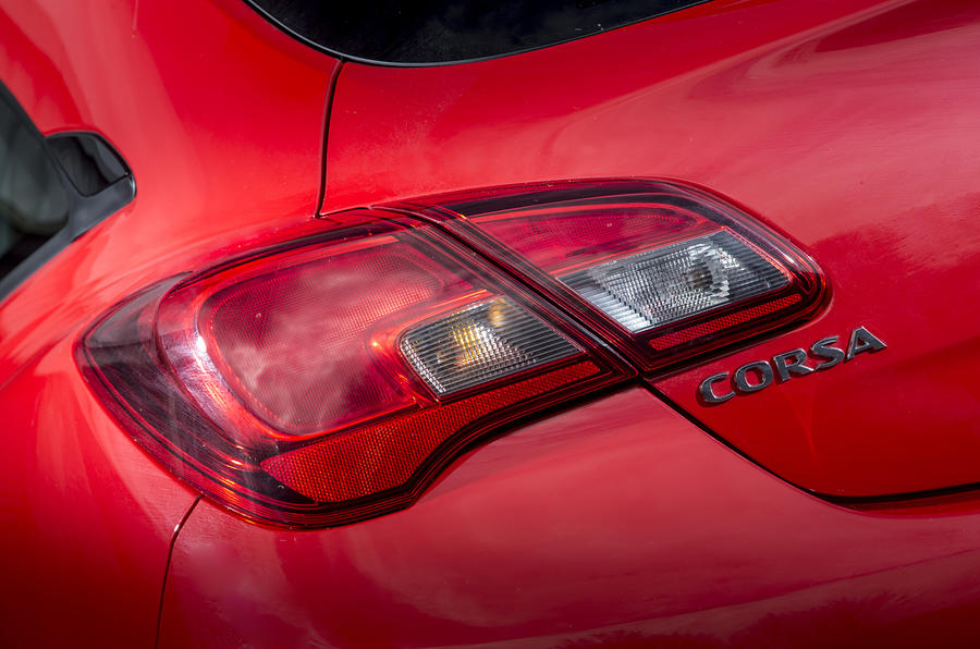 Vauxhall Corsa Red Edition tailight