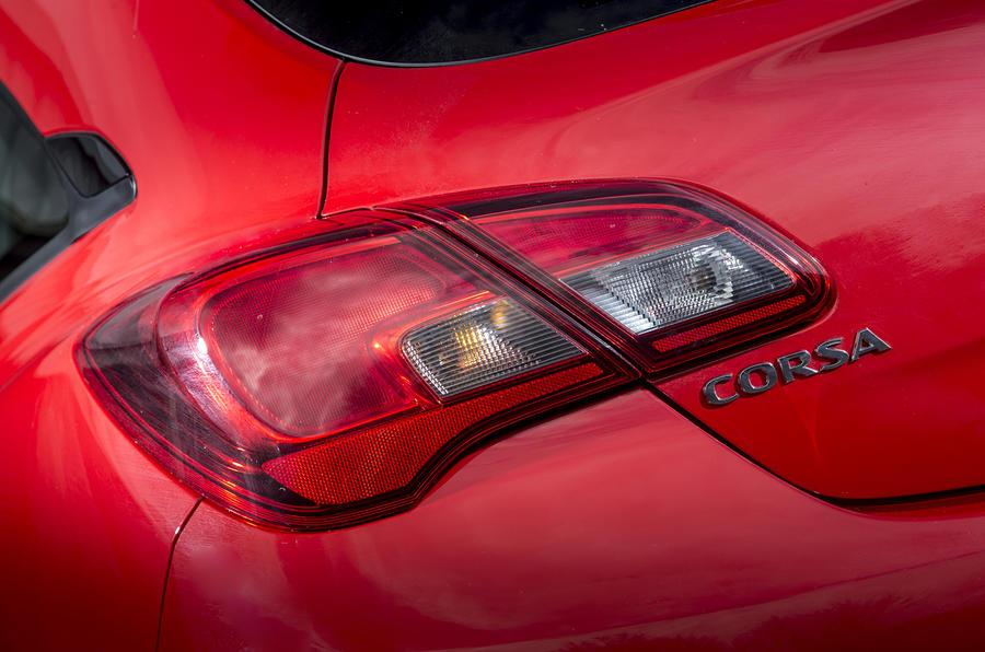 Vauxhall Corsa Red Edition tailight