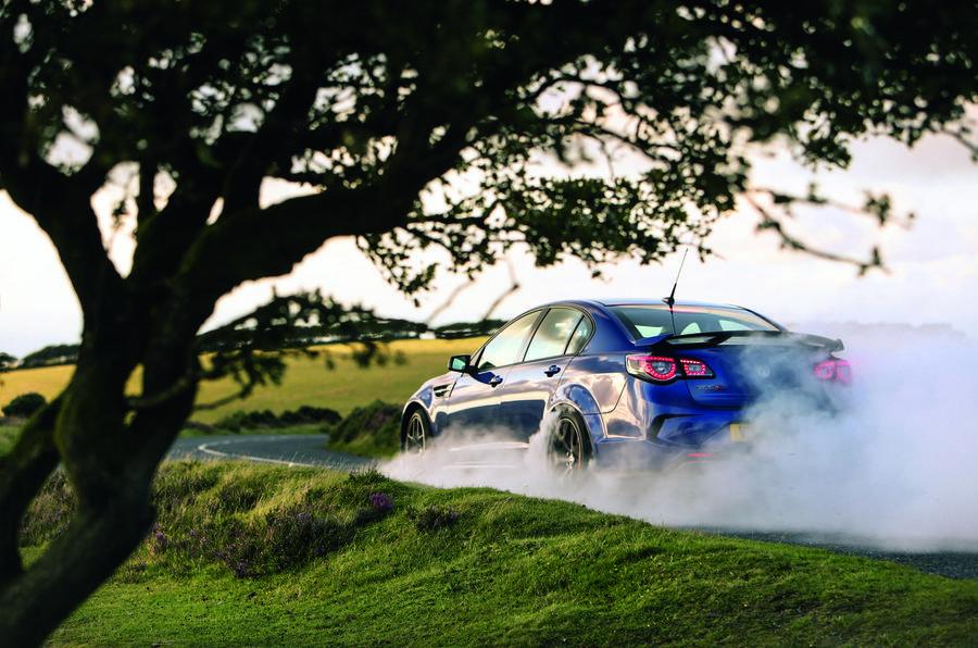 Vauxhall VXR8 GTS-R rear burnout