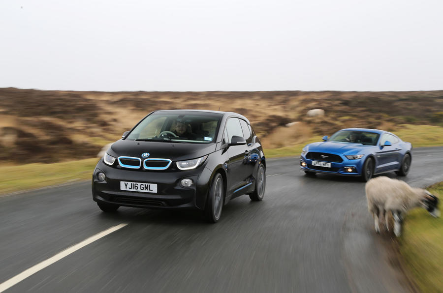 BMW i3 and Ford Mustang