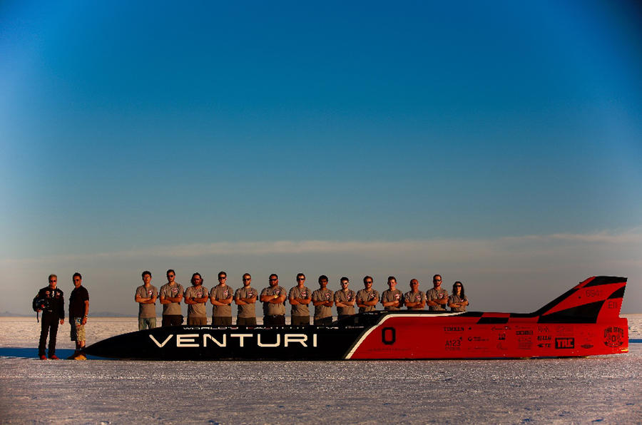 Electric land speed record set by Venturi