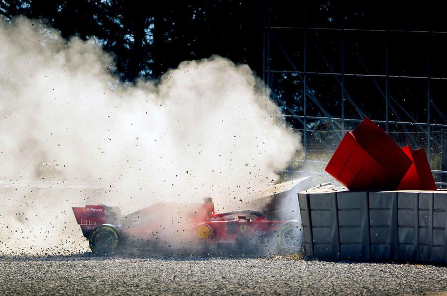 Sebastian Vettel Ferrari Formula 1 crash Melbourne