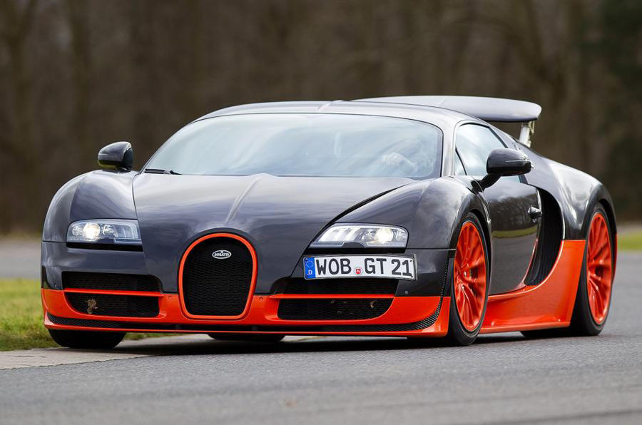 Bugatti Veyron Supersport press hero front