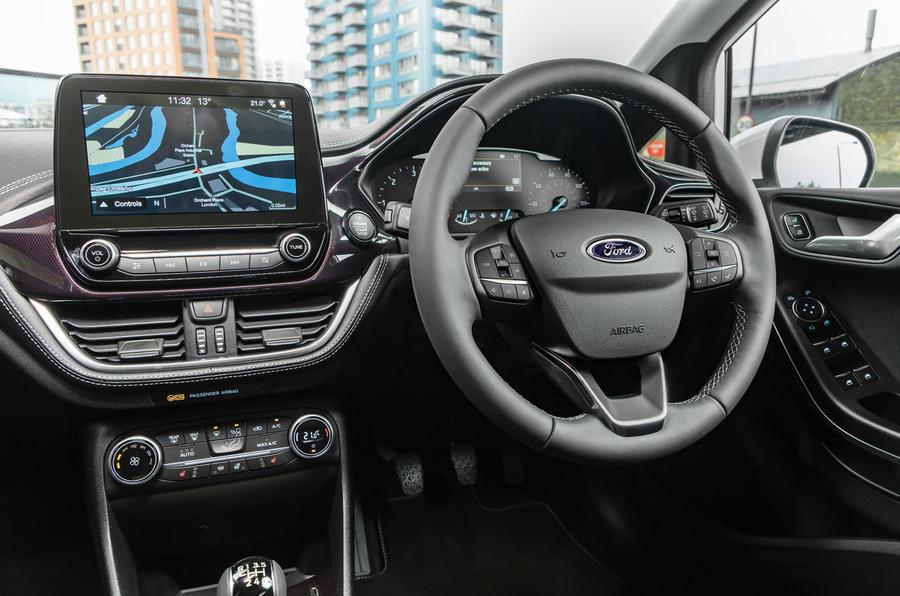 Ford Fiesta Vignale steering wheel