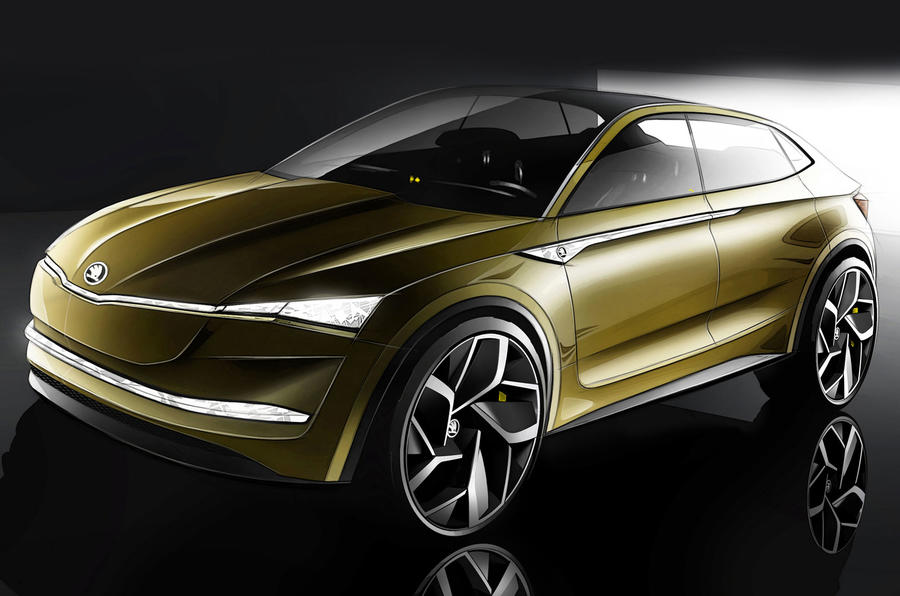 Skoda reveals the Vision E - an electric SUV concept to rival Tesla