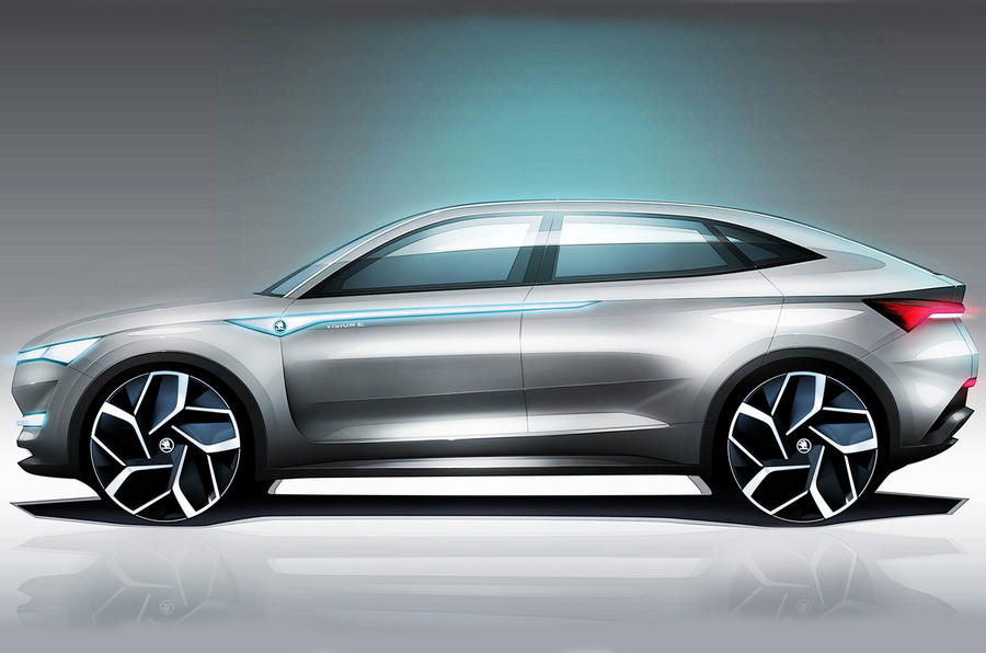 skoda vision e electric suv concept interior revealed autocar. Black Bedroom Furniture Sets. Home Design Ideas