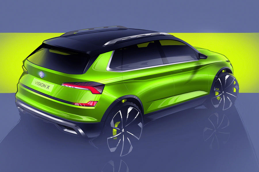 Skoda Vision X small SUV concept previewed ahead of Geneva motor show