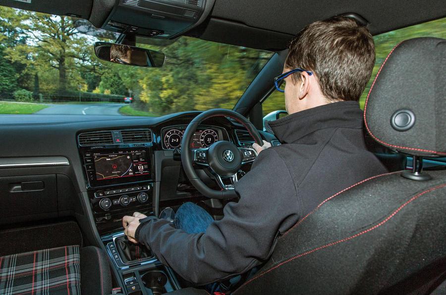 Mark Tisshaw driving the Volkswagen Golf GTI