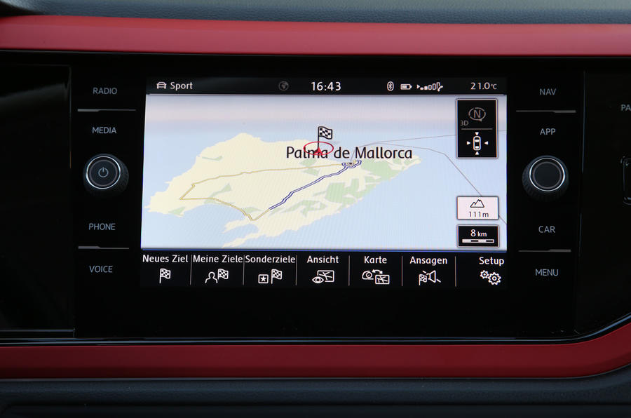 Volkswagen Polo GTI infotainment system