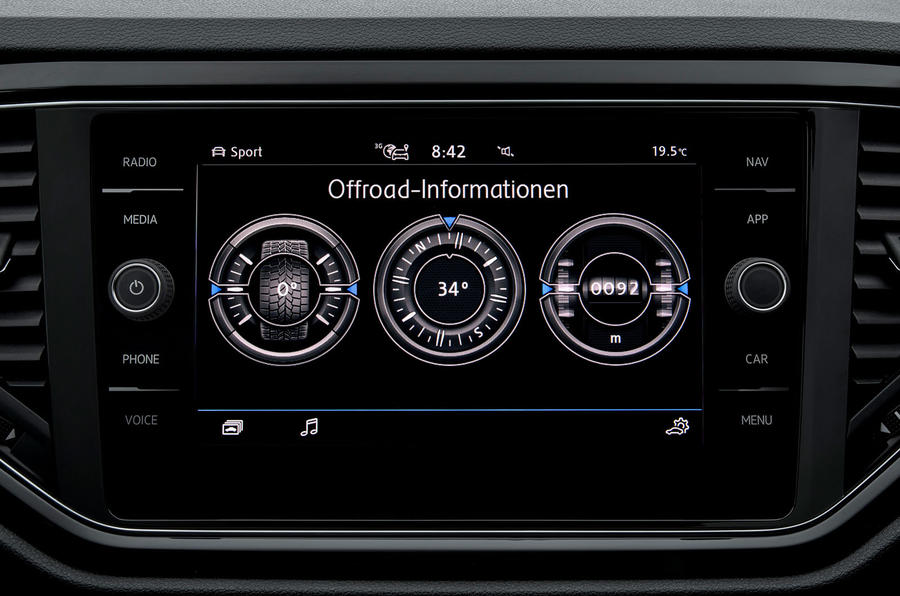 Volkswagen T-Roc off-road mode