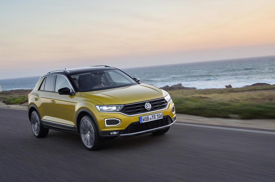 Volkswagen T-Roc TDI on the road