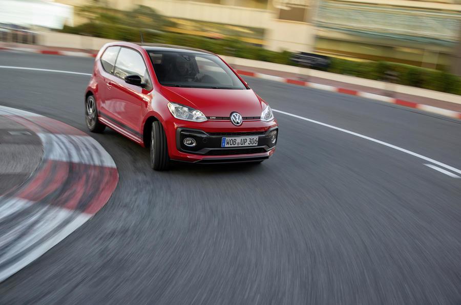 Volkswagen Up GTI cornering