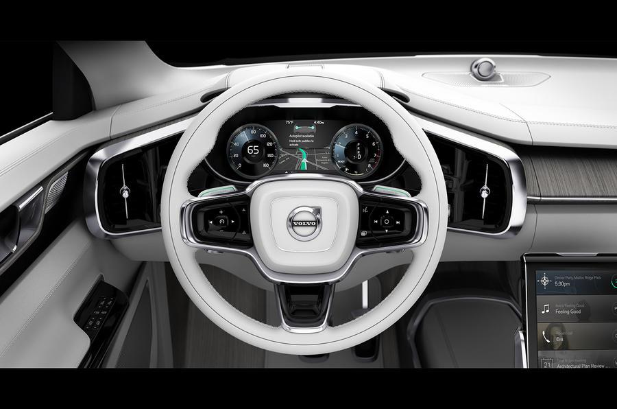 volvo concept 26 shows next gen interior autocar. Black Bedroom Furniture Sets. Home Design Ideas