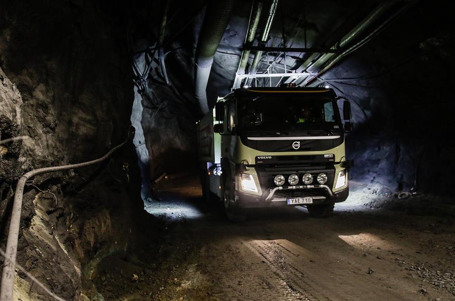 Volvo tests self-driving truck in an underground mine   Autocar