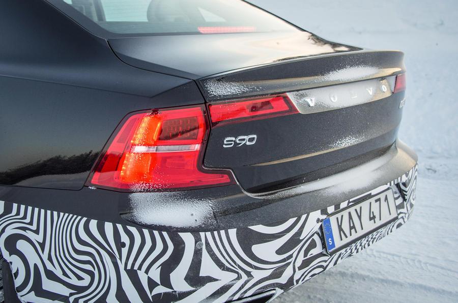 Volvo S90 prototype rear end