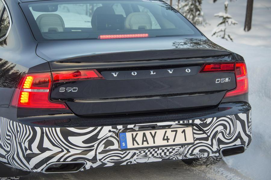 Volvo S90 prototype rear lights