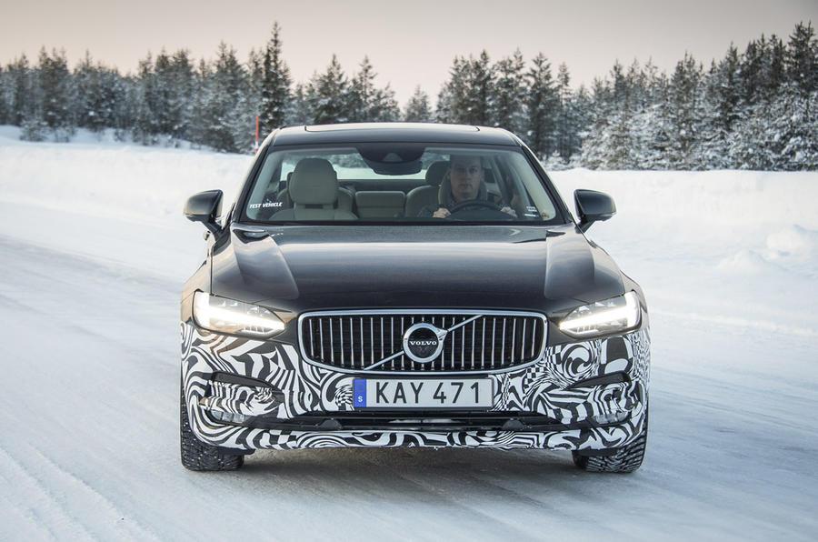 Volvo S90 prototype front
