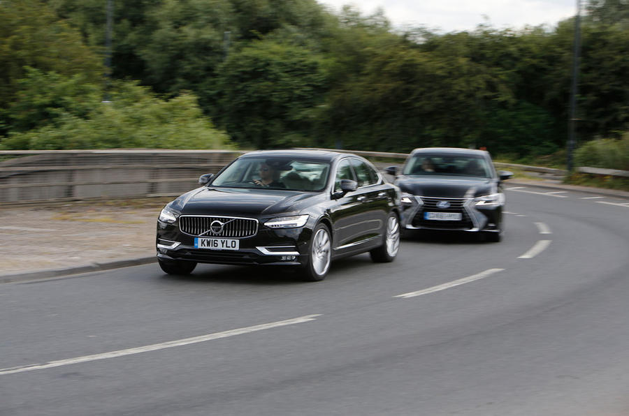 Audi A6 vs Lexus GS vs Mercedes-Benz E-Class vs Volvo S90 - executive car group test