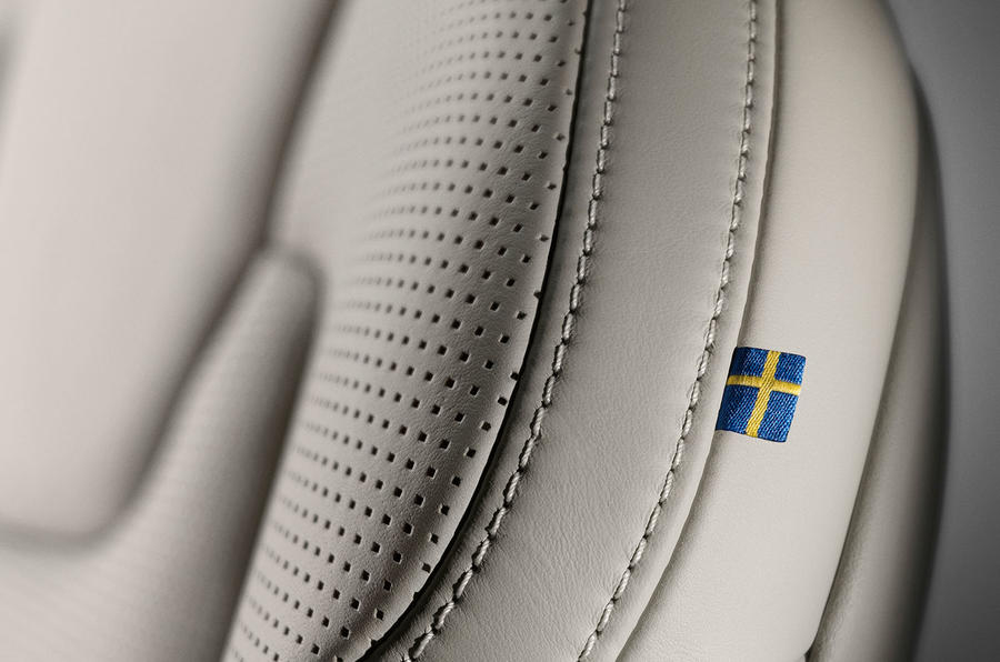 Volvo S90 Swedish flag detail