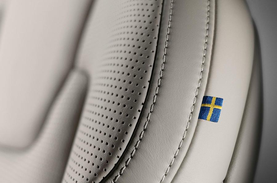 Volvo S90 Swedish flag detail