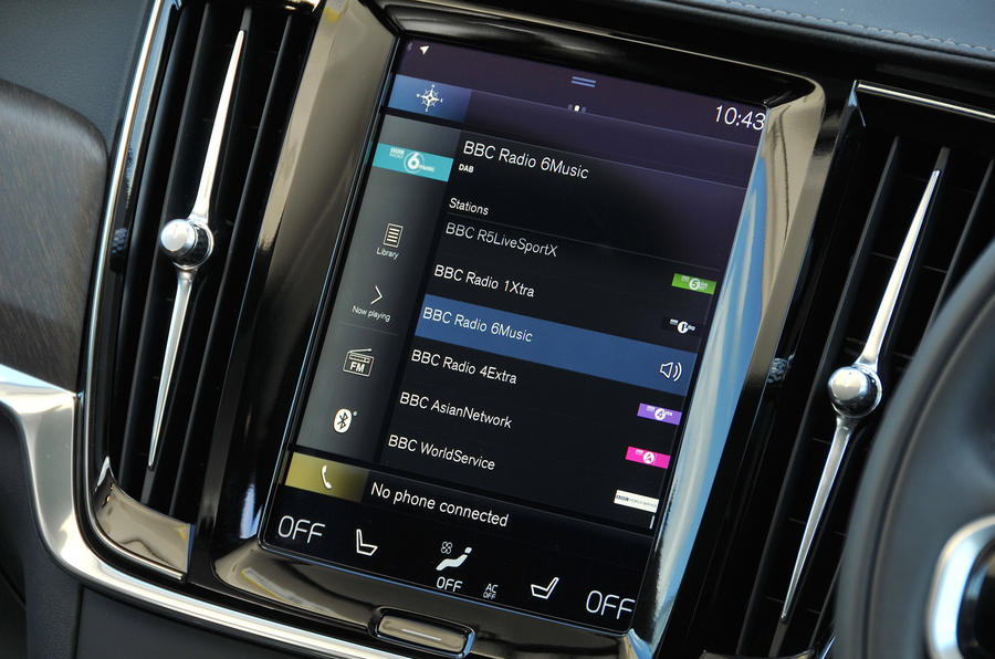Volvo V90 Cross Country Sensus infotainment system