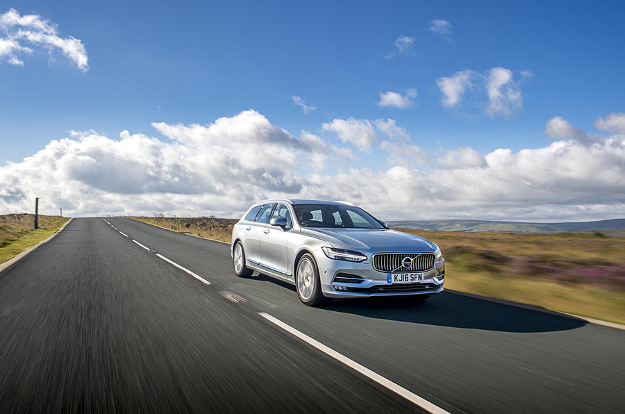 Volvo V90 on the road