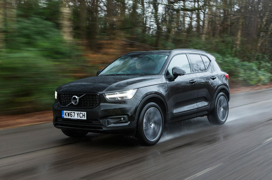 Volvo XC40 diesel on the road front