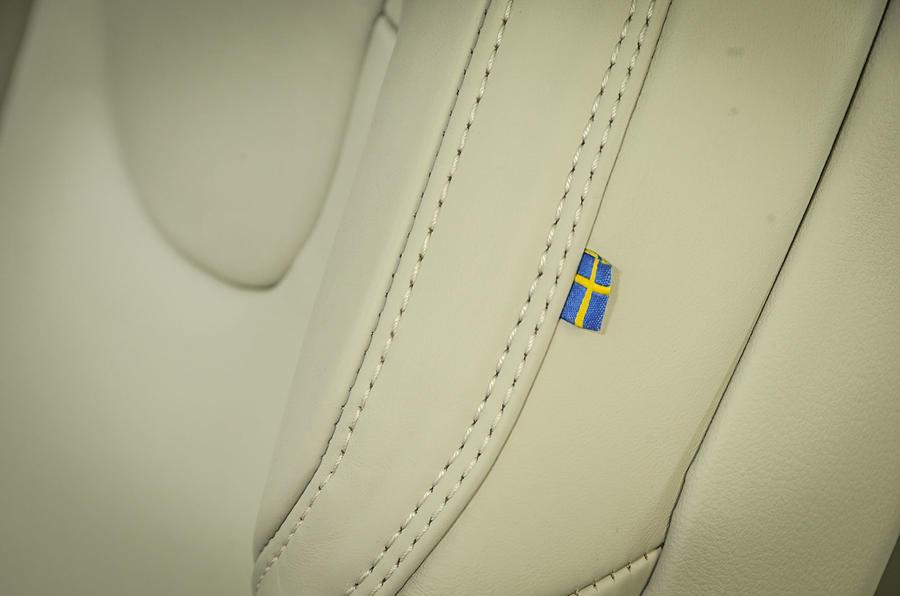 Volvo Sweden seat trim flag
