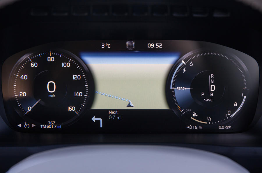 Volvo XC90 digital instrument cluster