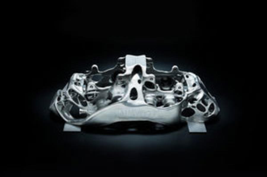 Bugatti Chiron is world's first to use ultra-tough 3D printed brake caliper