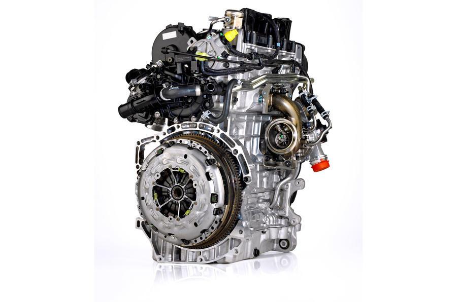 Three-cylinder Volvo V40 engine
