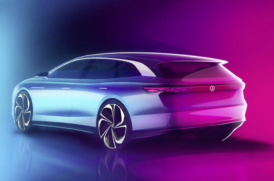 VW previews the new ID. Space Vizzion estate/wagon concept
