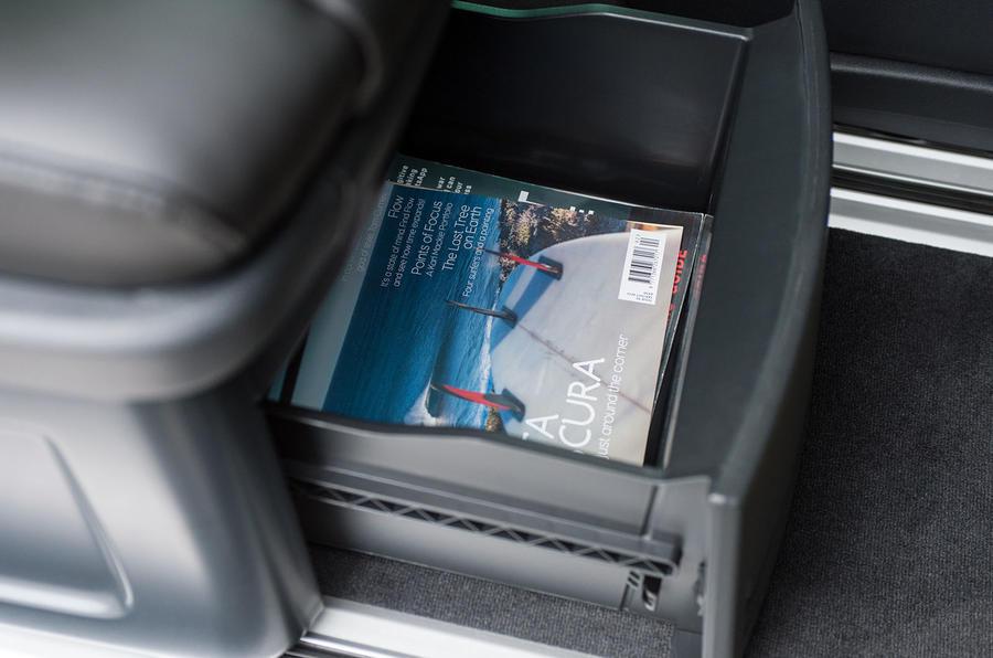 Volkswagen Caravelle under seat storage