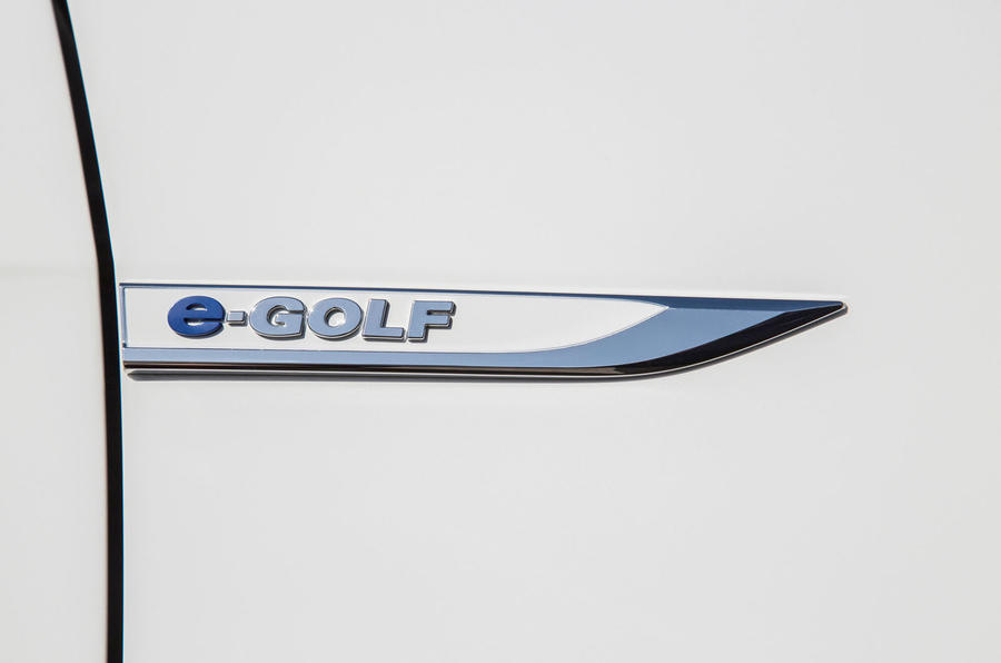 Volkswagen e-Golf badging