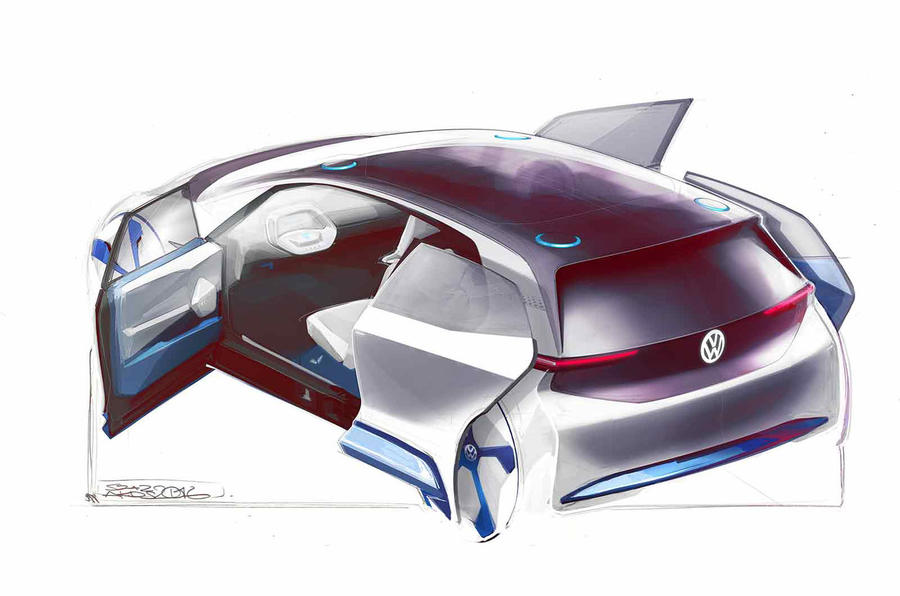 VW teases new electric auto in first sketches