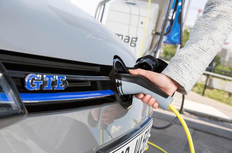 Volkswagen Golf GTE electric charging port