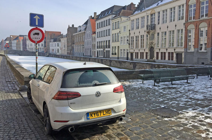 VW Golf GTI longterm review Bruges rear