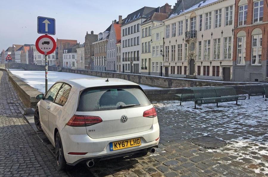 VW Golf GTI longterm review Bruges rear