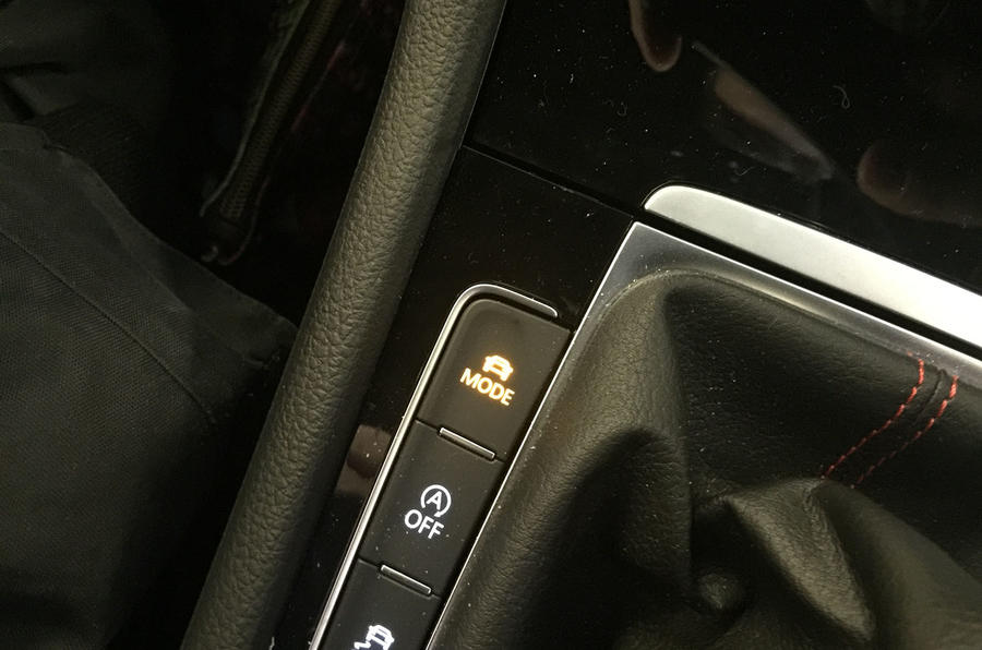 VW Golf GTI longterm review driving mode button