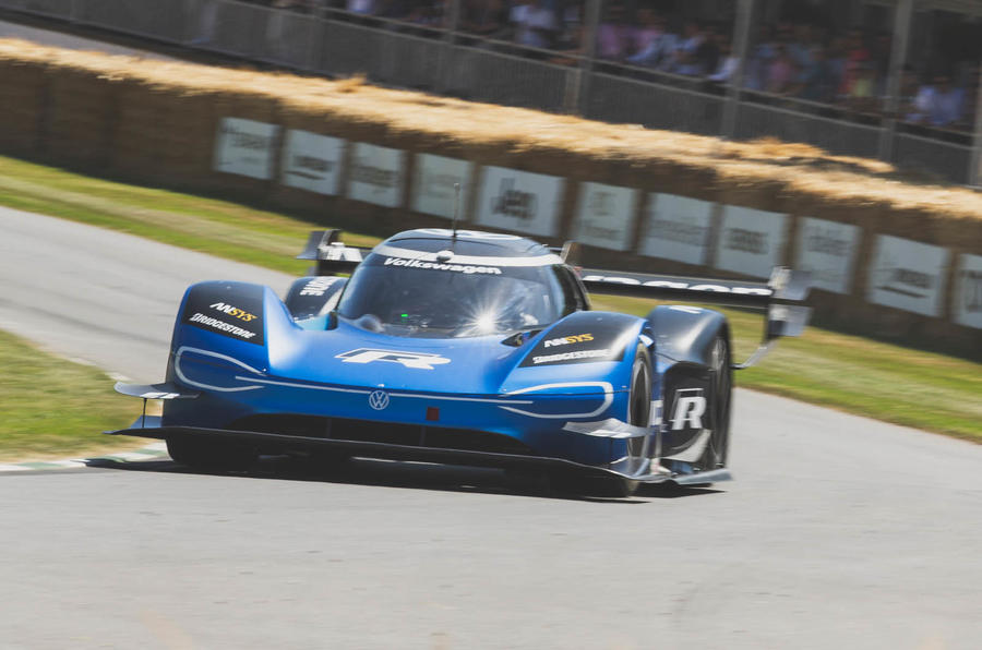 VW ID R at Goodwood Festival of Speed - hillclimb