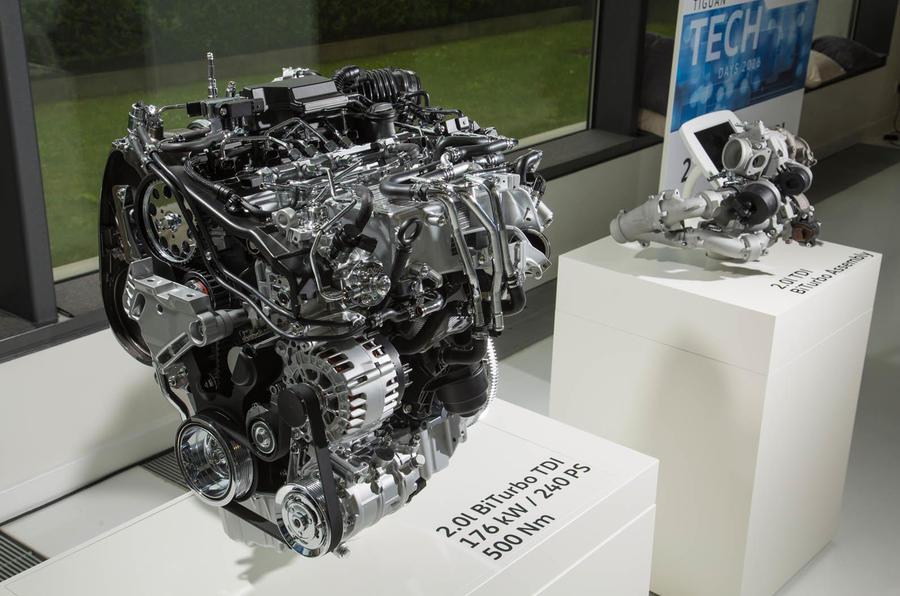 2.0-litre BiTDI Volkswagen Tiguan engine block