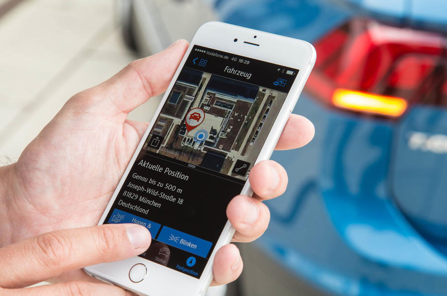 Find my Volkswagen Tiguan app