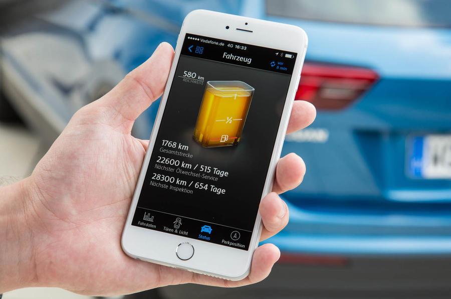 Volkswagen Tiguan fuel monitor app