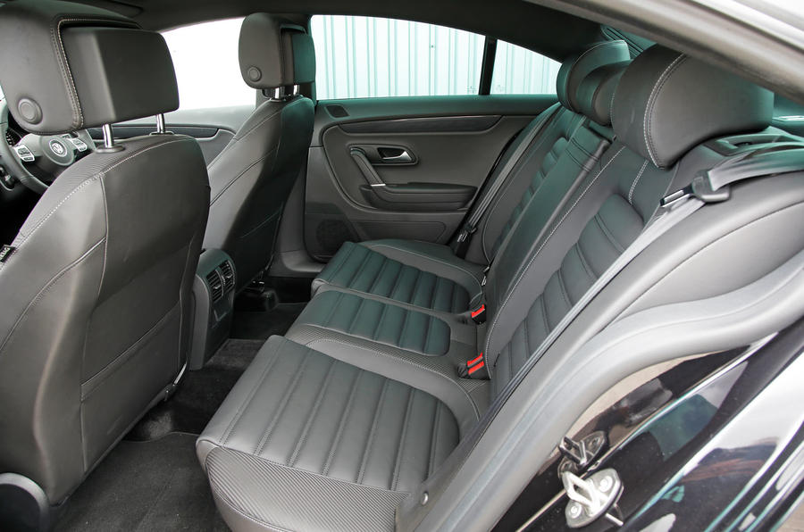 Volkswagen CC Black Edition rear seats