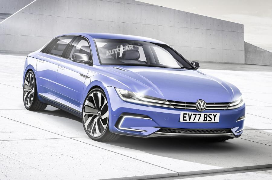 Our artist's impression of the next VW Phaeton