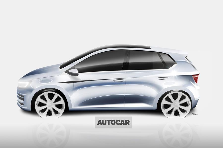 Next-generation Volkswagen Polo rendering