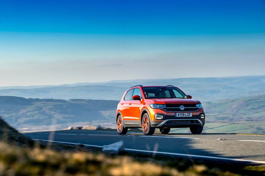 Volkswagen T-Cross on the road